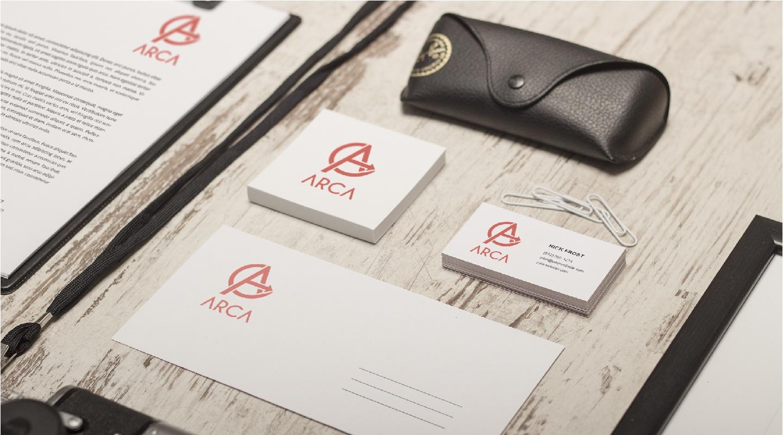 Arca - Logo Design e Brand Identity set postale