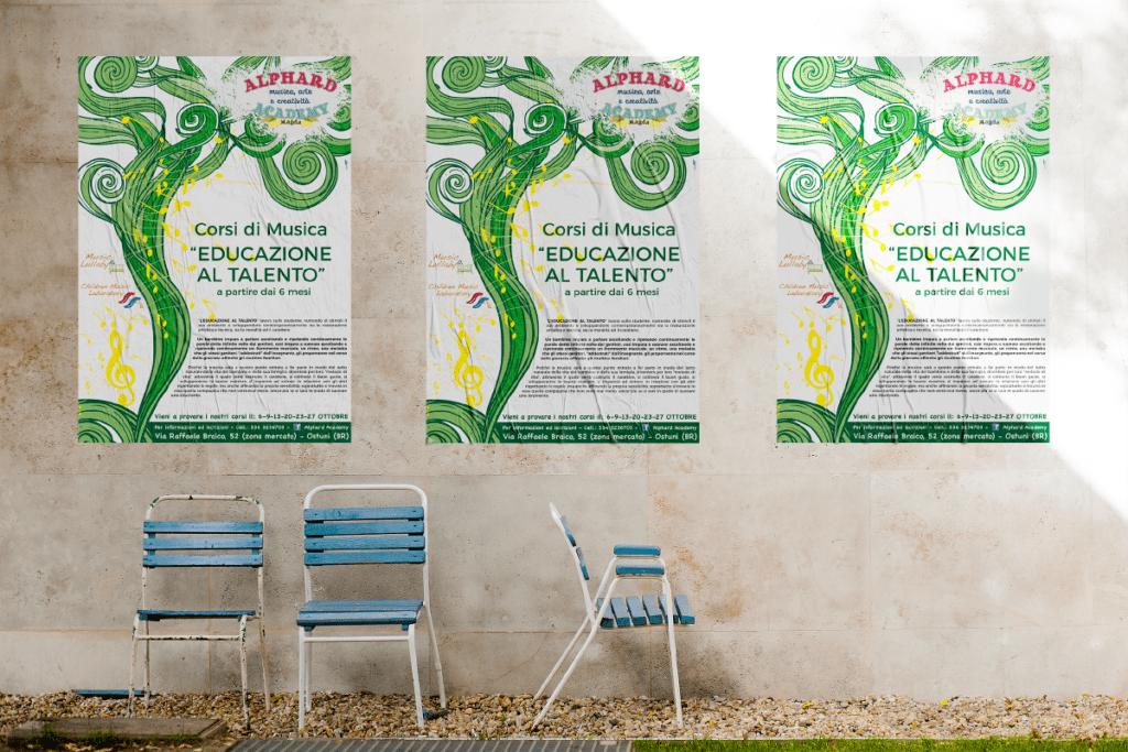 Alphard Academy Illustrazione Poster